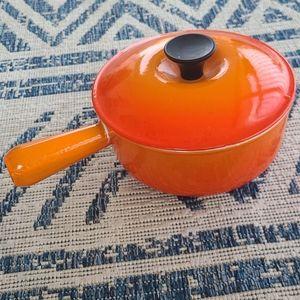 Vintage Le Creuset Orange sauce pot